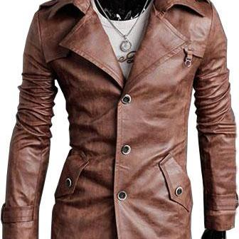 Handmade Custom New Men Slim Fit Bu..