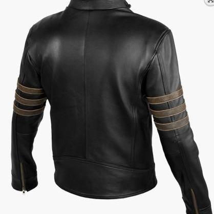 Custom Handmade leather jacket, bla..