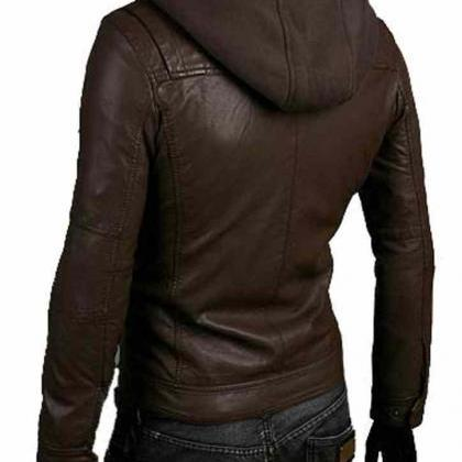 Handmade New Men Stylish Hooded wit..