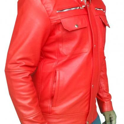 Handmade New Men Bomber Slim Fit Le..