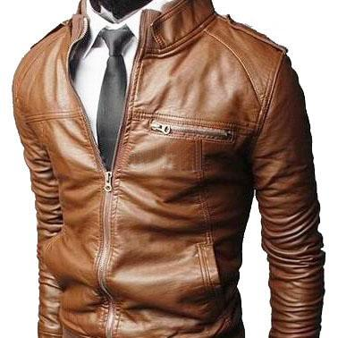 Handmade Custom New Men Slim Fit Stylish Rib Collar Leather Jacket, men leather jacket, Leather jacket for men, Biker Leather Jacket, Motorcycle Jacket