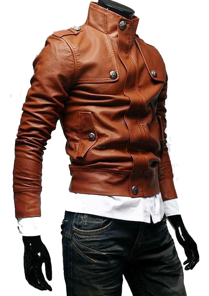 Handmade Custom New Men Slim Fit Stylish Button Front Leather Jacket, men leather jacket, Leather jacket for men, Biker Leather Jacket, Motorcycle Jacket