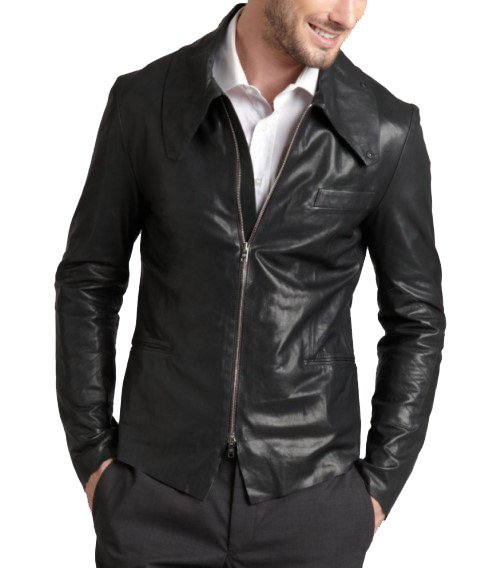Handmade Custom New Men Simple Shirt Collar Style Classic Leather Jacket, men leather jacket, Leather jacket for men, Biker Leather Jacket, Motorcycle Jacket
