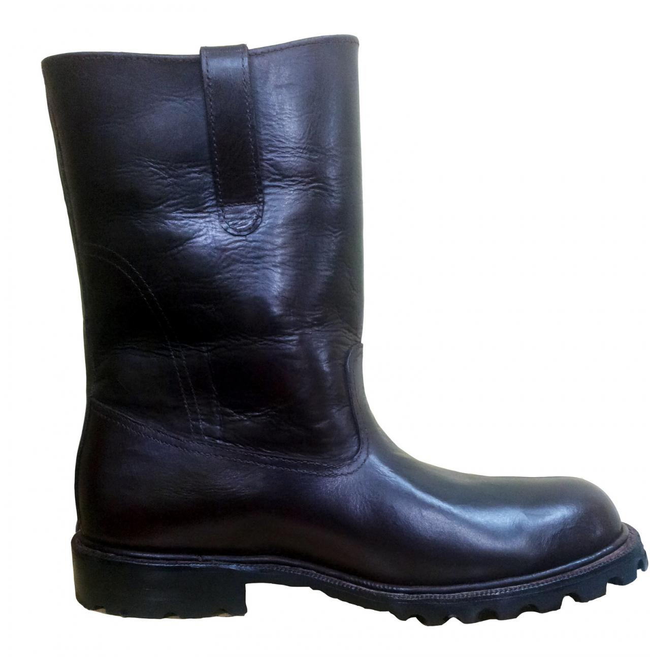 New Handmade Safety Real Leather Boots with Steel Toe and Rubber Sole, fireproof