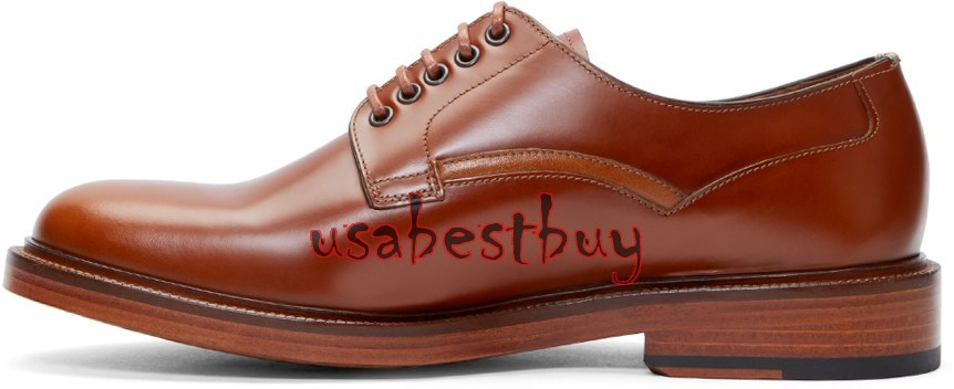 New Handmade Classic Brogue Style Real Leather Brown Dress Shoes, men dress shoe