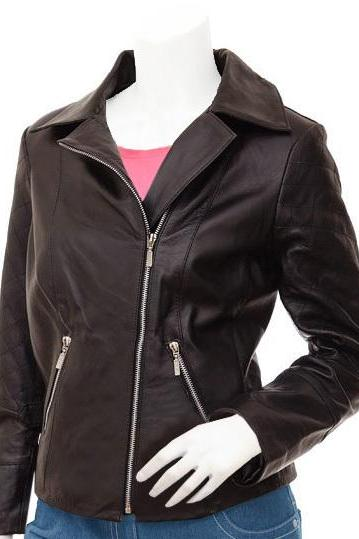Soft Women's Brown Leather Jacket