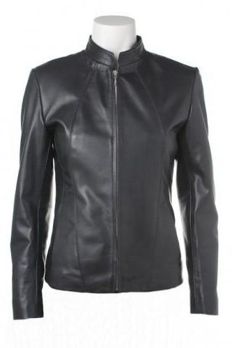 Goatskin Classically Handmade Black Colored Leather Jacket for Women