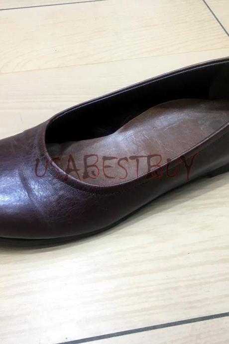 New Handmade Women Elegant Soft Simple Pumps with Flat Leather sole.