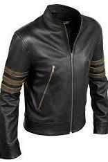 Custom Handmade leather jacket, black real leather ja
