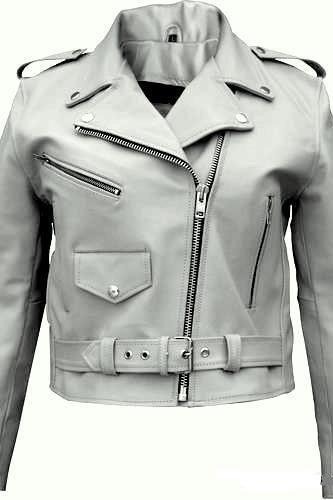 Handmade New Men Classic White Brando Style Leather Jacket, Men Leather jacket