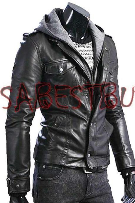 Handmade New Men Superb Chic Biker Leather Jacket, Men leather jacket