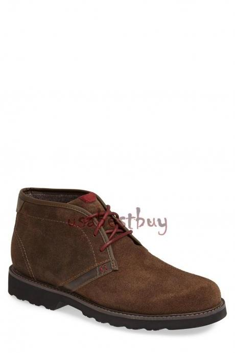 New Handmade Chukka Superb Style Suede Leather Boots, Men real leather boots