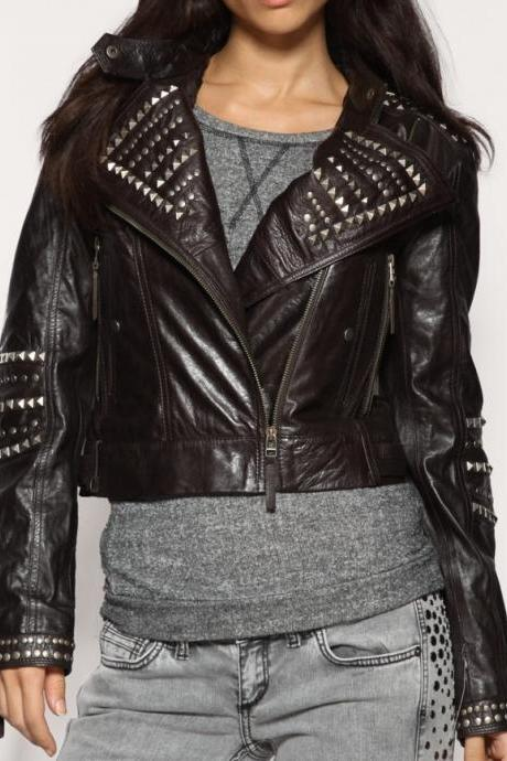 Handmade DOMINO KEIRA KNIGHTLEY (DOMINO HARVEY) GENUINE LEATHER JACKET