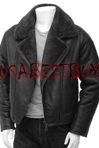Handmade New Men Superb Inside Fur Leather Jacket, Men leather jacket