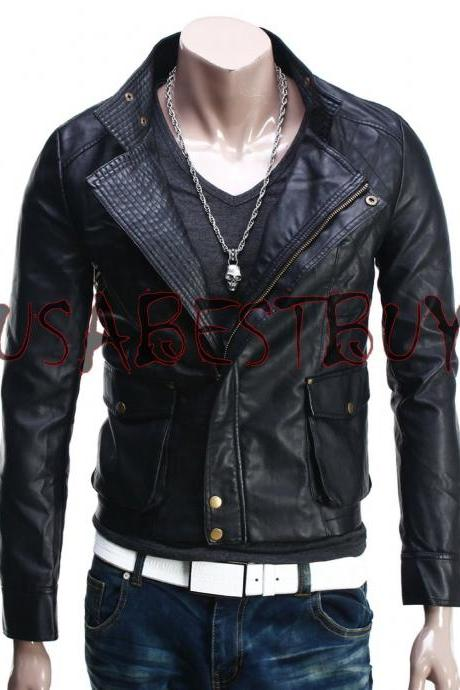 Handmade New Men Stylish Classic Stitching Bomber Leather Jacket, Biker Jacket