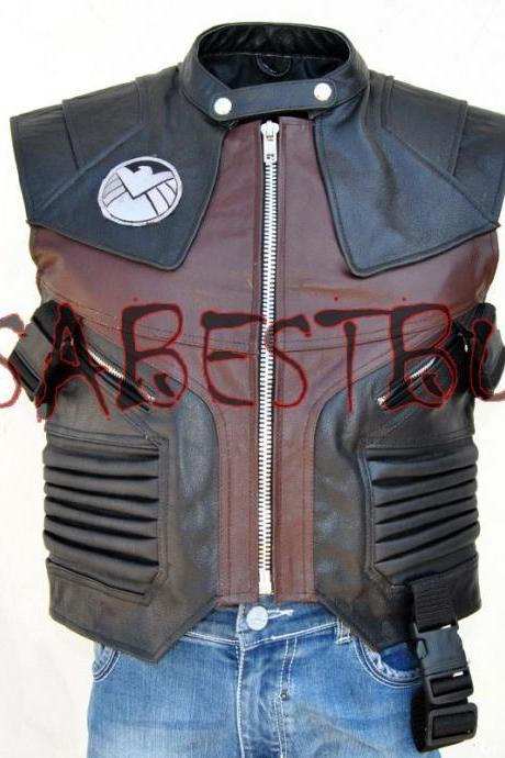 Handmade Hawkeye The Avengers Jeremy Renner Barton Leather Vest