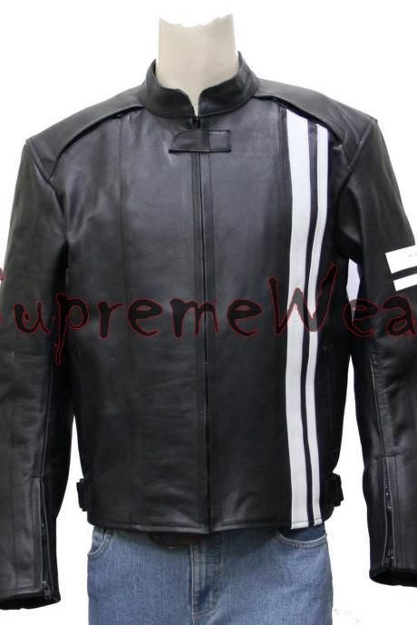 Custom made Handmade Motorcycle Leather Jacket with Pads, Leather Jacket for men
