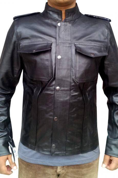 Handmade New Men Superb Slim Fit Leather Jacket, Men leather jacket, Leather jac