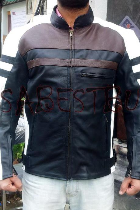 Handmade New Men Superior Class Elegant Biker Leather Jacket, Men Leather jacket