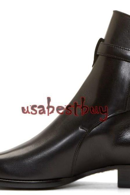 New Handmade Latest Style High Ankle Strap Pure Leather Boots, Men leather boots
