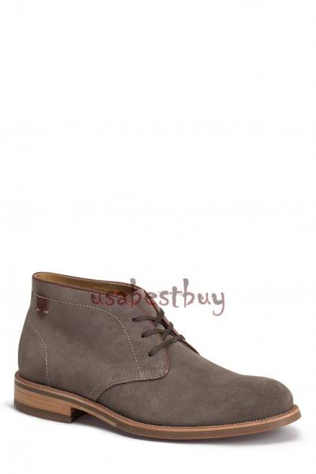 New Handmade Chukka Style Suede Leather Boots, Men real leather boots