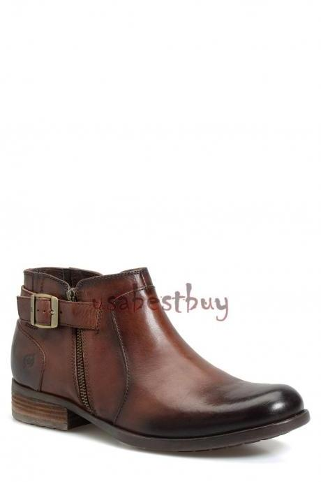 New Handmade Chukka New Style Genuine Leather Boots, Men Brown leather boots