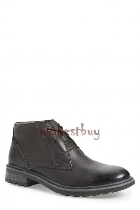 New Handmade Chukka Superb Style Genuine Leather Boots, Men Black leather boots
