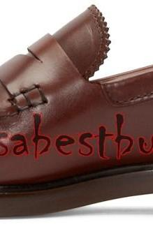 New Handmade Latest Style Men Pure Leather Shoes in Brown Colour, dress shoes