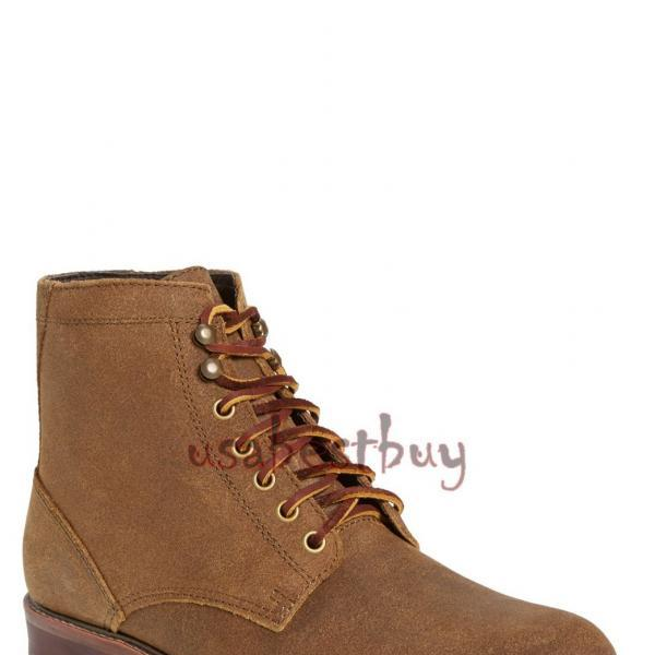 New Handmade Oxford Superb Style Suede Leather Boots, Men real leather boots