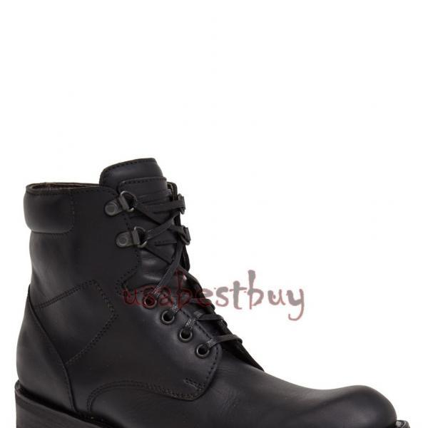 New Handmade Men Flexible Grip Genuine Leather Boots, Men Black leather boots