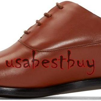New Handmade Latest Style Men Pure Leather Shoes in Brown Colour, formal shoes
